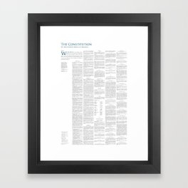 Constitution of the United States Framed Art Print