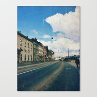 stockholm Canvas Prints featuring Stockholm by Jane Lacey Smith