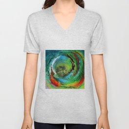 Maelstrom, captivating abstract painting Unisex V-Neck