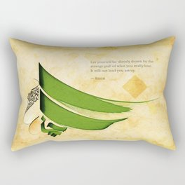 Arabic Calligraphy - Rumi - Strange Pull Rectangular Pillow