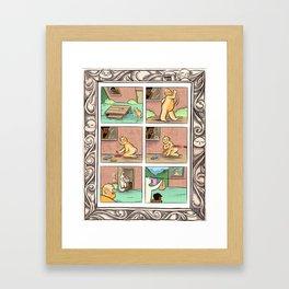 Manfried is a Jerk Framed Art Print