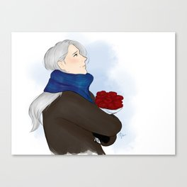 victor with roses - yuri on ice Canvas Print