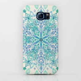 Peppermint Snowflake on Cream iPhone Case