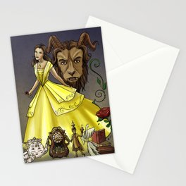 Belle and the Beast Stationery Cards