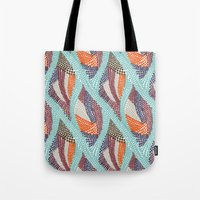 knitting Tote Bags featuring knitting dots by frameless