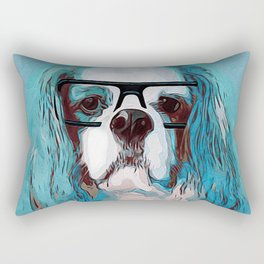 Librarian Pup Rectangular Pillow