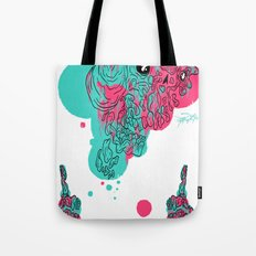 Dripping Face Tote Bag
