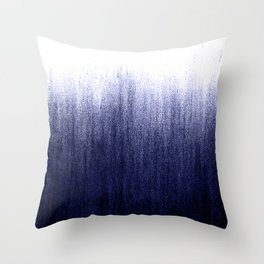 Indigo Ombre Throw Pillow