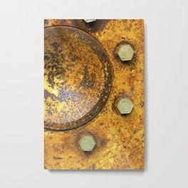 Tractor Wheel Metal Print