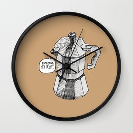 Espresso Yourself! Wall Clock