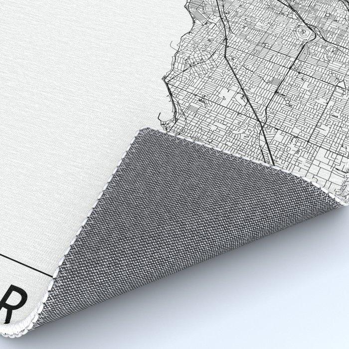 Melbourne White Map Rug