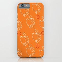 Orange Birds iPhone Case
