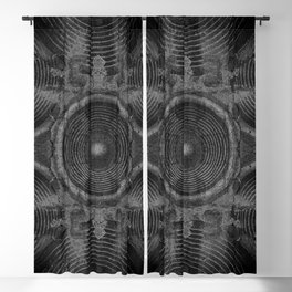 Black and white music speakers Blackout Curtain