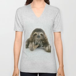 Arctic Sloth Unisex V-Neck