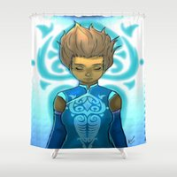 korra Shower Curtains featuring I'm always with you. by Kitty C.