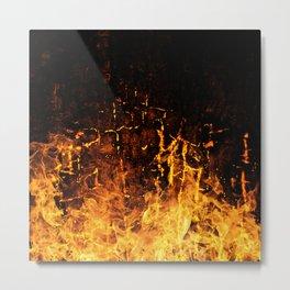 Hot Stuff / Let it burn Metal Print