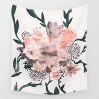 georgiana paraschiv Wall Tapestries featuring Summer Flowers by Georgiana Paraschiv