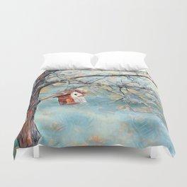 A Chickadees Home Duvet Cover