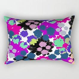 Overlayed blooms Rectangular Pillow