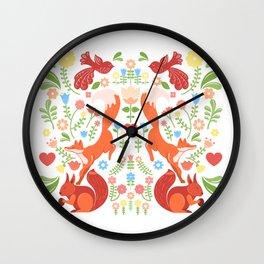 Early Fall Festive Flower Frolic Wall Clock