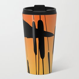 Great Blue Heron - Sunset Travel Mug