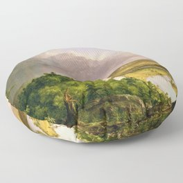 The Oxbow (Connecticut River near Northampton) by Thomas Cole Floor Pillow