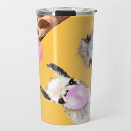 Bubble Gum Gang in Yellow Travel Mug