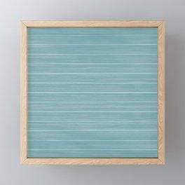 Island Paradise Blue Weathered Whitewash Wooden Beach House Framed Mini Art Print
