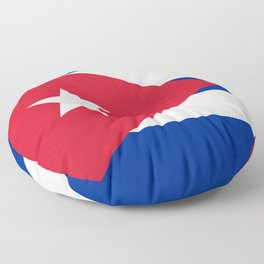 National flag of Cuba - Authentic HQ version Floor Pillow
