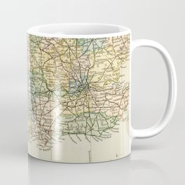 England and Wales Vintage Map Coffee Mug