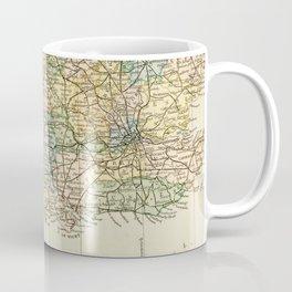 England and Wales Vintage Map Coffee Mug