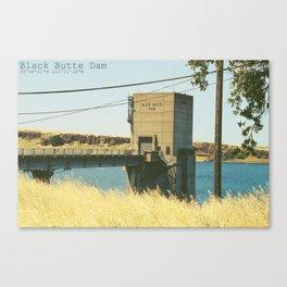 Black Butte Dam Canvas Print