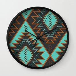 Navajo diamonds Wall Clock