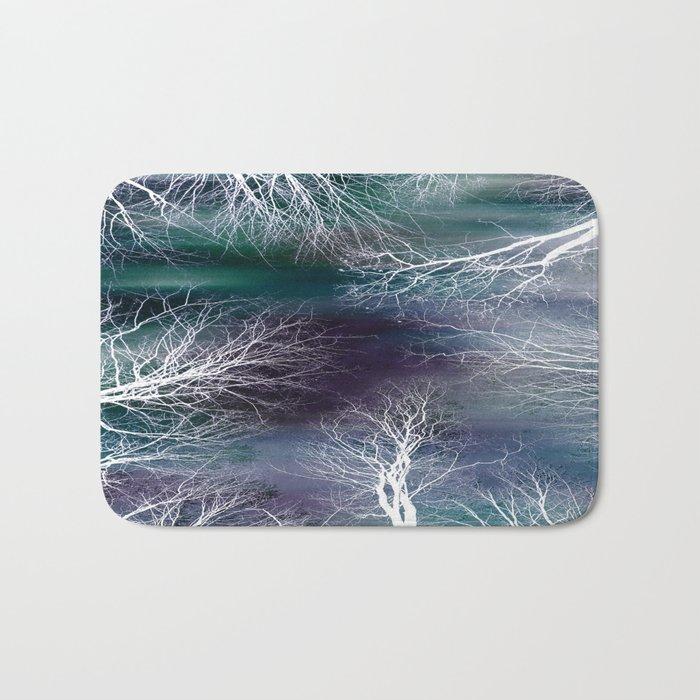 Midnight Purple Teal Bath Mat