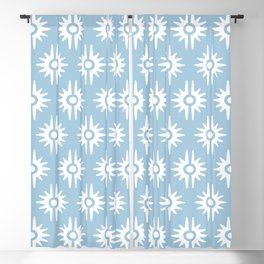 Mid Century Modern Bang Pattern 271 Pale Blue Blackout Curtain