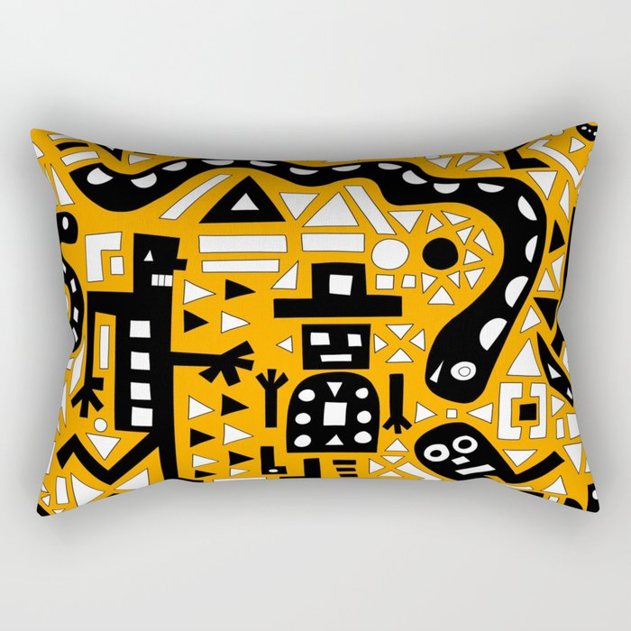 2D Garden (Bumble Bee Edition) Rectangular Pillow