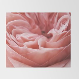 Blushing Swirl Throw Blanket