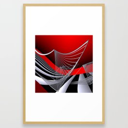 experiments on geometry -11- Framed Art Print