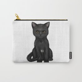 Sweet Black Kitty Cat with Bright Golden Eyes  Carry-All Pouch