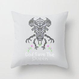 Xenobroidery Throw Pillow
