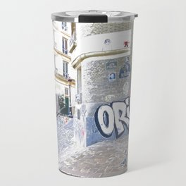 French taste of alleys and graffiti streets in Paris Travel Mug