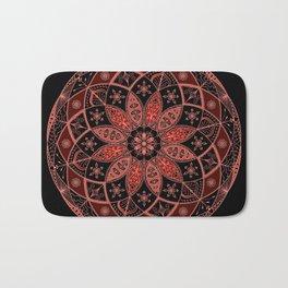Autumn Fall Mandala Spirograph Art Pattern Design Rosette Bath Mat