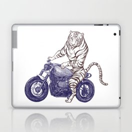 Tiger on a Motorcycle Laptop & iPad Skin