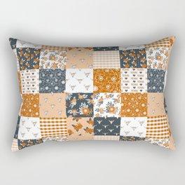 Texas Longhorns University varsity football sports fan college gifts Rectangular Pillow