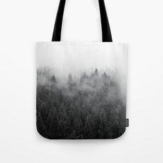 Black and White Mist Tote Bag