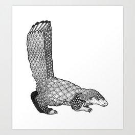 L - Animal Alphabet Art Print