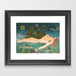 SHE WAS A CONTINENT A COUNTRY AND A HOME Framed Art Print