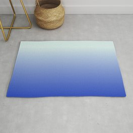 BRIGHT BLUE pastel color ombre pattern  Rug