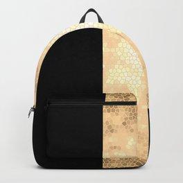 Gold and black stripes Backpack