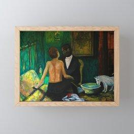 Charles Sews Florian's Wound Framed Mini Art Print